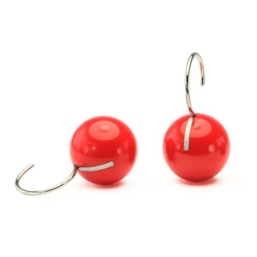 Kugelohrhänger, rot, kurz