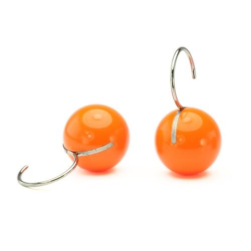 Kugelohrhänger, orange, kurz