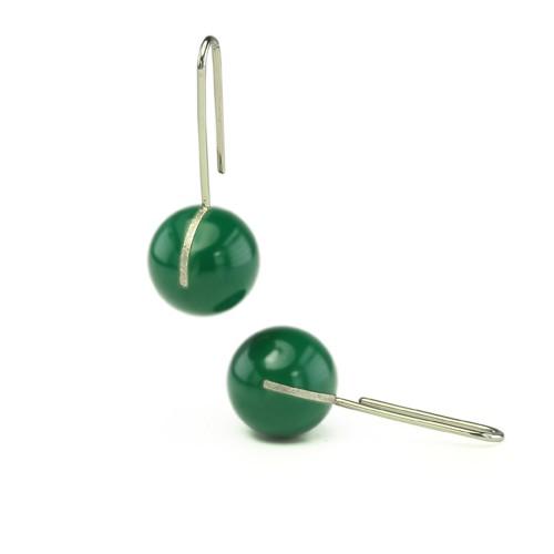 Kugelohrhänger, grün