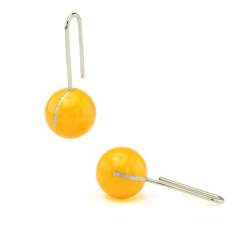 Kugelohrhänger, gelb
